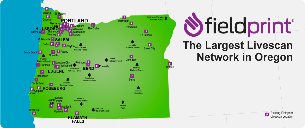 Oregon's Livescan locations